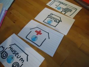 German vocab cards with images for remembering gender